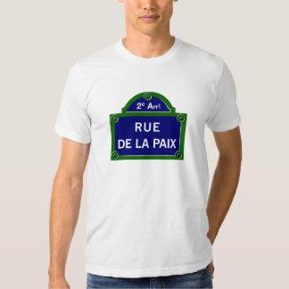 Rue de la Paix, Paris Street Sign Tee Shirts