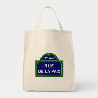 Rue de la Paix, Paris Street Sign Tote Bag