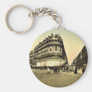 Rue de la Republic, Marseilles, France classic Pho Basic Round Button Keychain