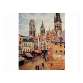 Rue de l'epicerie at Rouen, on a Grey Morning Postcard