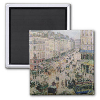 Rue de l'Epicerie, Rouen, on a Sunny Afternoon, 18 2 Inch Square Magnet