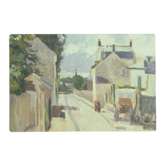 Rue de l'Ermitage, Pontoise, 1874 (oil on canvas) Placemat