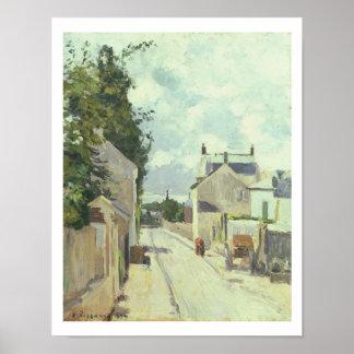 Rue de l'Ermitage, Pontoise, 1874 (oil on canvas) Poster