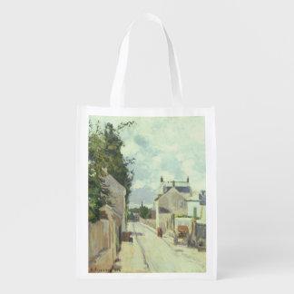 Rue de l'Ermitage, Pontoise, 1874 (oil on canvas) Reusable Grocery Bag