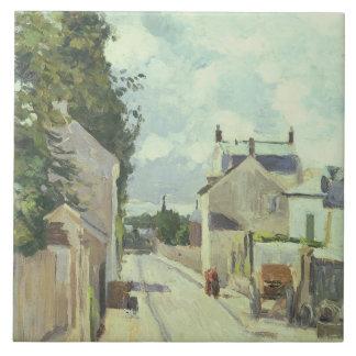 Rue de l'Ermitage, Pontoise, 1874 (oil on canvas) Tile