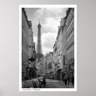 Rue de Paris - G Shepard Poster