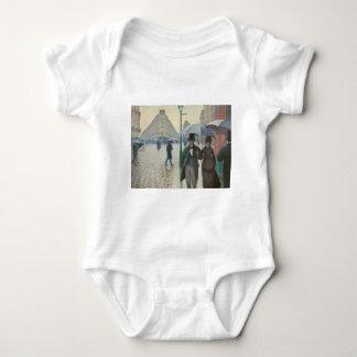Rue de Paris Temps de Pluie by Gustave Caillebotte Baby Bodysuit