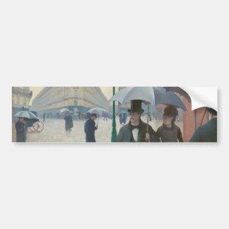 Rue de Paris Temps de Pluie by Gustave Caillebotte Car Bumper Sticker