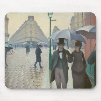 Rue de Paris Temps de Pluie by Gustave Caillebotte Mouse Pad