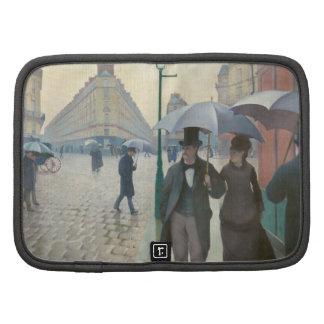 Rue de Paris Temps de Pluie by Gustave Caillebotte Organizer