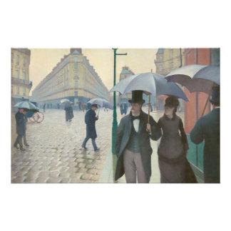 Rue de Paris Temps de Pluie by Gustave Caillebotte Stationery Design