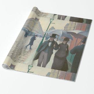 Rue de Paris Temps de Pluie by Gustave Caillebotte Wrapping Paper