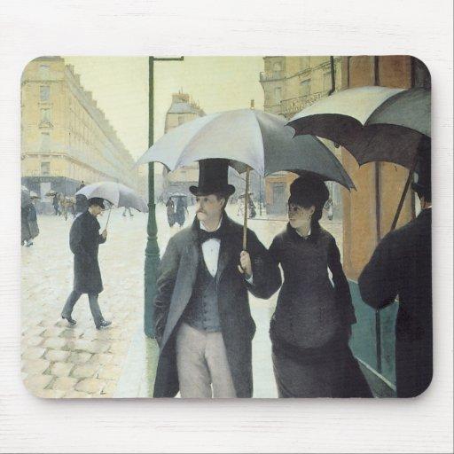 Rue de Paris, Wet Weather Mousepad Mouse Pad