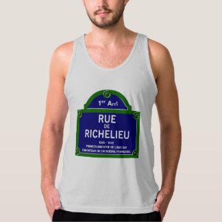 Rue de Richelieu, Paris Street Sign Tank Top