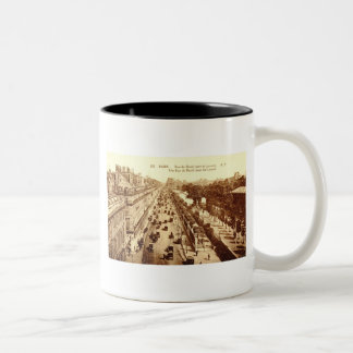Rue de Rivoli, Paris 1910 Vintage Two-Tone Coffee Mug