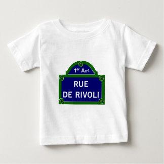 Rue de Rivoli, Paris Street Sign Baby T-Shirt