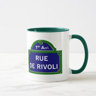Rue de Rivoli, Paris Street Sign Mug