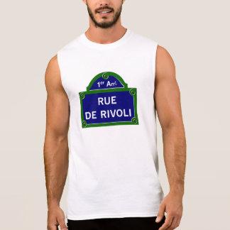 Rue de Rivoli, Paris Street Sign Sleeveless Shirt