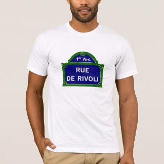 Rue de Rivoli, Paris Street Sign T-Shirt