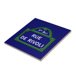 Rue de Rivoli, Paris Street Sign Tile