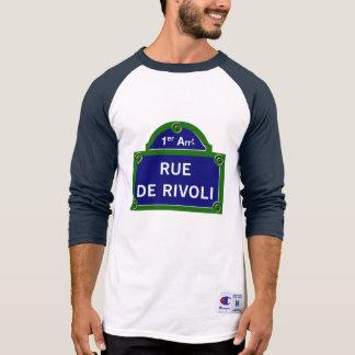 Rue de Rivoli, Paris Street Sign T Shirts