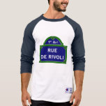 Rue de Rivoli, placa de calle de París Camiseta