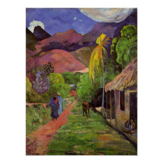 'Rue de Tahiti' - Paul Gaugin Print
