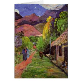 Rue de Tahiti - Paul Gauguin Card