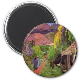 'Rue de Tahiti' - Paul Gauguin Magnet