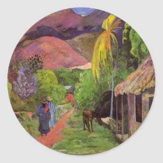 'Rue de Tahiti' - Paul Gauguin Sticker