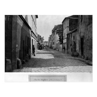 Rue des Anglaises, from rue de Lourcine, Paris Postcard