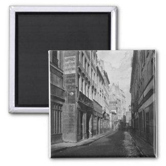 Rue des Bourdonnais  Paris 1858-78 2 Inch Square Magnet