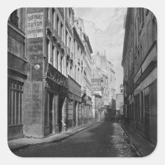 Rue des Bourdonnais  Paris 1858-78 Square Sticker