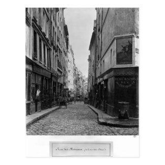 Rue des Moineaux from Rue des Orties Paris Post Card
