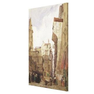 Rue des Pretes, St. Germain L'Auxerrois, Paris Canvas Print