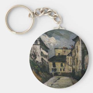 Rue des Saules. Montmartre by Paul Cezanne Keychain