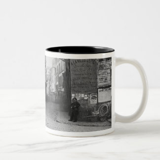 Rue Descartes, from the Rue Mouffetard, Paris Two-Tone Coffee Mug