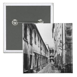 Rue du Fer-a-Moulin, Paris, 1858-78 Pinback Button
