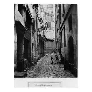 Rue du Haut Moulin, from rue de Glatigny, Paris Postcard