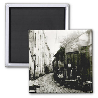 Rue du Jardinet and the cul-de-sac 2 Inch Square Magnet