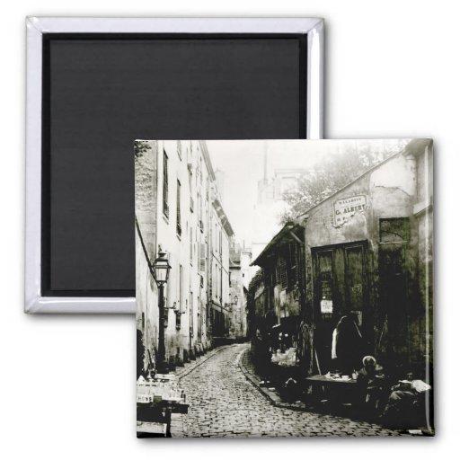 Rue du Jardinet and the cul-de-sac Refrigerator Magnets