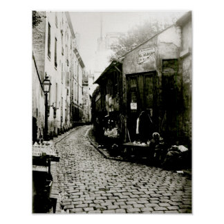 Rue du Jardinet and the cul-de-sac Poster