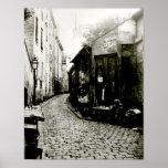 Rue du Jardinet and the cul-de-sac Print