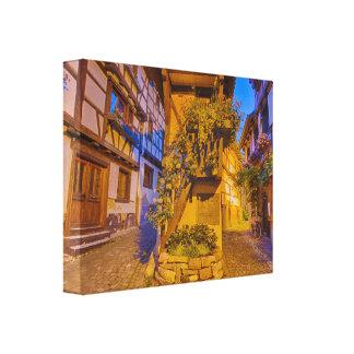 Rue du Rempart-Sud rue l'Allemand-Sud iEguisheim Canvas Print