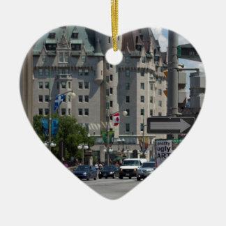 Rue ELGIN st., Montreal Ceramic Ornament