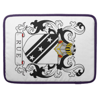 Rue Family Crest (English) Sleeves For MacBook Pro