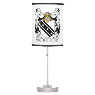Rue Family Crest (English) Table Lamp
