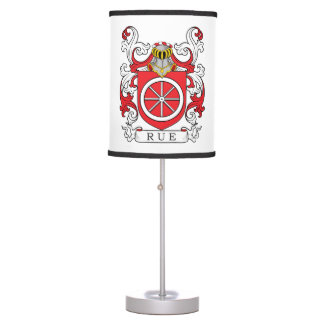 Rue Family Crest (French) Table Lamp