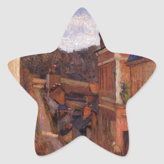 Rue Jouvenet, Rouen by Paul Gauguin Star Sticker