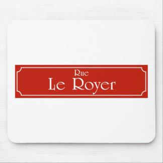 Rue Le Royer, placa de calle de Montreal Mousepads